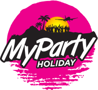 My party holiday logo